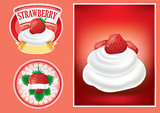 set of different strawberry luxury labels