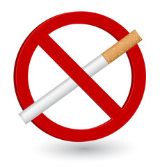 no smoking sign icon 3d