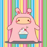 Child Rabbit CupCake Kawaii