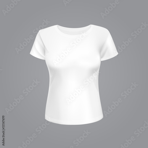 Vector Illustration of White Women T-shirt