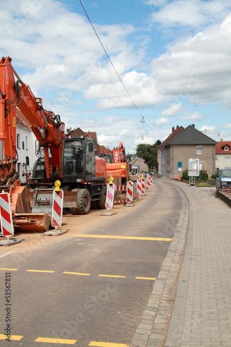 Baustelle an einer Strasse