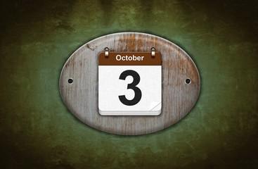 3 de Octubre.