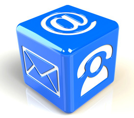 Email Icon blau