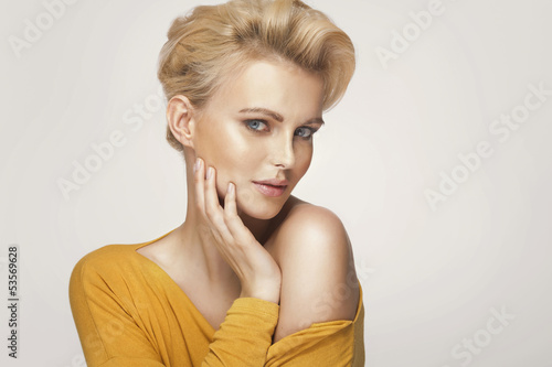 Portrait of a cute blonde woman