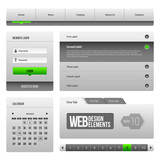 Modern Clean Website Design Elements Grey Green Gray 3