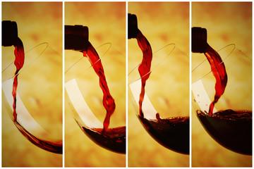 Vino rosso concetto di versare riempre
