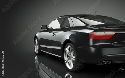 canvas print picture Black Sport Car