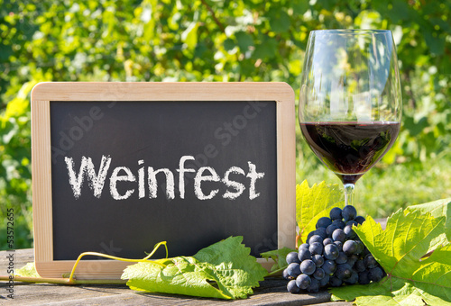 canvas print picture Weinfest