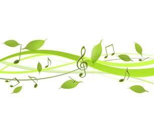 新緑と音楽