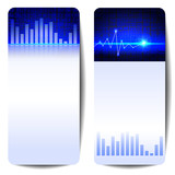 abstract digital sound wave banner