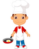 Little chef with frying pan