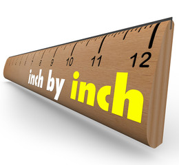 Inch by Inch Incremental Growth Increasing Ruler Measure