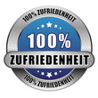 5 Star Button blau 100% ZUFIREDENHEIT