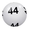 Loto, boule blanche numéro 44