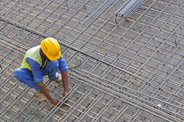 Eisenflechter Bauarbeiter