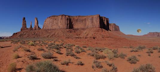 crépuscule sur monument valley