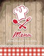 illustration of vintage retro frame with restaurant menu design