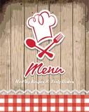Fototapety illustration of vintage retro frame with restaurant menu design