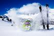 Snow throwing fun