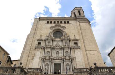 Veduta della cattedrale di Girona, Spagna