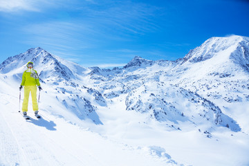 Skiing in mountains is so beautiful