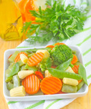 raw vegetables, mix vegetables