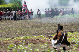 Re-enactment of the battle of Vitoria (Spain)