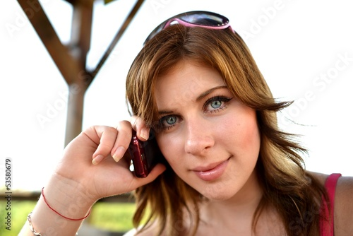 student on the phone