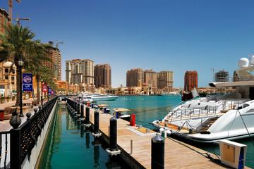 An artificial island Pearl-Qatar in Doha, Qatar