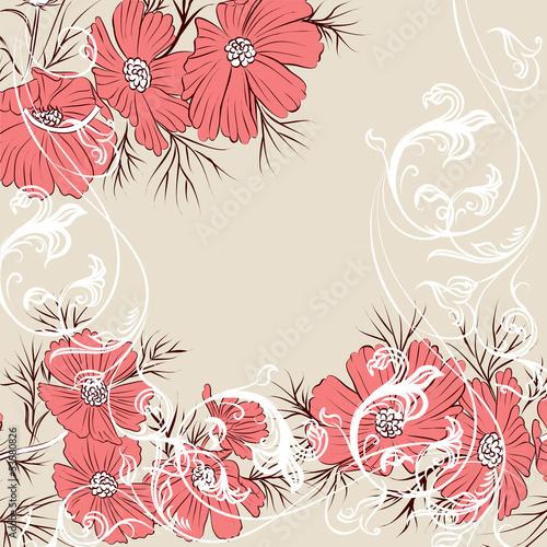 Tuinposter Abstract bloemen Floral vector background