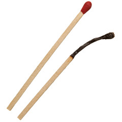 Two matchsticks isolated