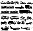 Transportation icons.