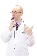 Impulsive medical doctor discussing about something