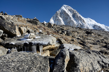 Foot of Kala Patthar mountain (5164 m ), Nepal, Everest region