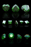 Emerald shape jewelry gemstone