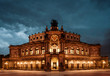 Dresden Opera Theatre at night