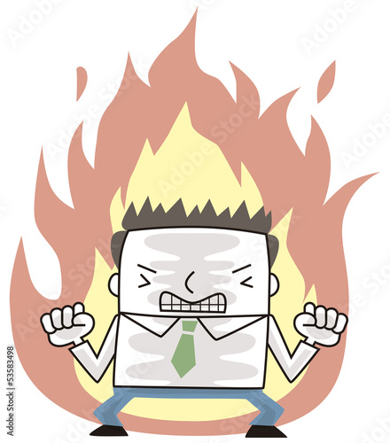 燃えるビジネスマン