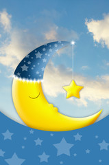 Sweet Dreams with moon and star