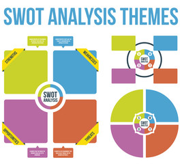 SWOT Analysis Themes Vector