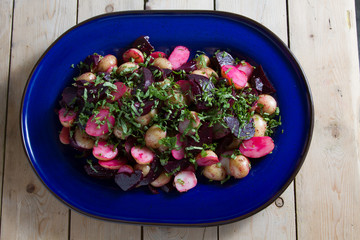 Healthy beetroot salad