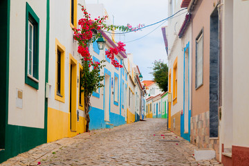 Romantische Strasse in Algarve Portugal
