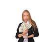 девушка и валюта, деньги и выгода