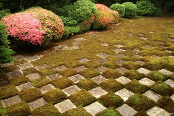 東福寺 方丈北庭の市松模様