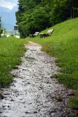 Matschiger Wanderweg