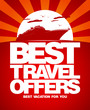 Best travel offers advertising design template