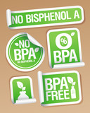 Bisphenol A (BPA) free products stickers set