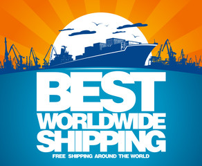 Best worldwide shipping design template