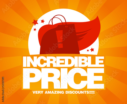 Incredible price, sale design template