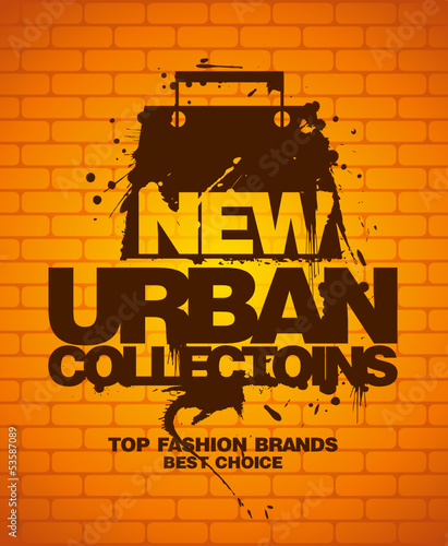 New urban collections design template with shopping bag