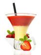 Eierlikör-Erdbeer-Cocktail